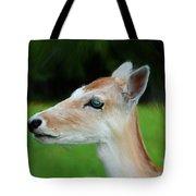 Painted Deer Tote Bag by Mariola Bitner