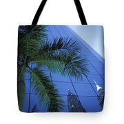 Palm Tree And Reflection Of Petronas Tote Bag by Axiom Photographic