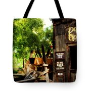 Pan For Gold In Old Tuscon Arizona Tote Bag by Susanne Van Hulst