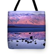 Panamint Range Reflected In Standing Tote Bag by Tim Fitzharris
