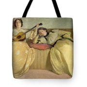 Panel For Music Room Tote Bag by John White Alexander