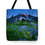 Paradise Garden Dawning Tote Bag by Mike  Dawson