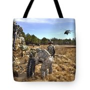 Paratroopers Prepare To Hook Up An Tote Bag by Stocktrek Images