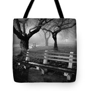 Park Benches Tote Bag by Gary Heller