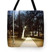 Park Path At Night Tote Bag by Elena Elisseeva