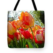 Parrot Tulips In Philadelphia Tote Bag by Mother Nature