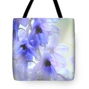 Passion for Flowers. blue Dreams Tote Bag by Jenny Rainbow