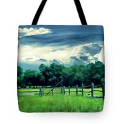 Pastoral Greenery Tote Bag by Lourry Legarde