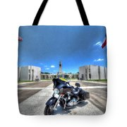 Patriot Guard Rider At The Houston National Cemetery Tote Bag by David Morefield