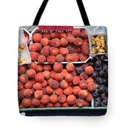Peaches And Plums - 5d17913 Tote Bag by Wingsdomain Art and Photography