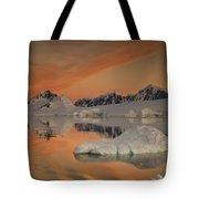 Peaks At Sunset Wiencke Island Tote Bag by Colin Monteath