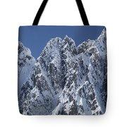 Peaks Of Takhinsha Mountains Tote Bag by Matthias Breiter
