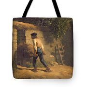 Peasant With A Wheelbarrow Tote Bag by Jean-Francois Millet