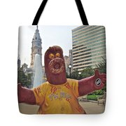 Phanatic Love Statue In The City Tote Bag by Alice Gipson