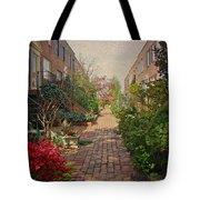 Philadelphia Courtyard - Symphony Of Springtime Gardens Tote Bag by Mother Nature
