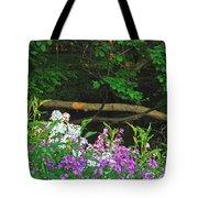 Phlox Along The Creek 7185 Tote Bag by Michael Peychich