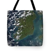 Phytoplankton Bloom Off The Coast Tote Bag by Stocktrek Images