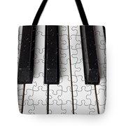 Piano Keys Jigsaw Tote Bag by Garry Gay