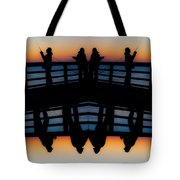 Pier Fishing At Dawn Tote Bag by Betsy C  Knapp