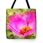 Pink Portulaca Tote Bag by Judi Bagwell