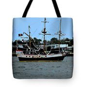 Pirate Ship Of The Matanzas Tote Bag by DigiArt Diaries by Vicky B Fuller