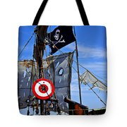 Pirate Ship With Target Tote Bag by Garry Gay