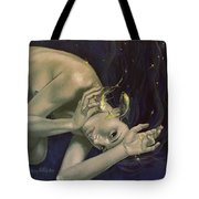 Pisces from Zodiac series Tote Bag by Dorina  Costras