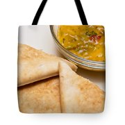 Pita Bread With Brocoli Cheese Dip Tote Bag by Andee Design