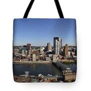 Pittsburgh Panoramic Tote Bag by Teresa Mucha
