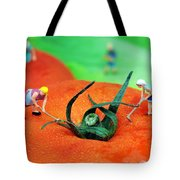 Planting On Tomato Field Tote Bag by Paul Ge