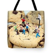 Playing Basketball On Cookies II Tote Bag by Paul Ge