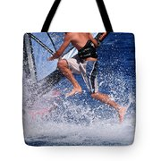 Playing With The Waves Tote Bag by Manolis Tsantakis