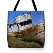 Point Reyes beached boat Tote Bag by Garry Gay