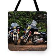 Police Motorcycles Tote Bag by Paul Ward