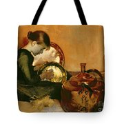 Polishing Pans  Tote Bag by Marianne Stokes