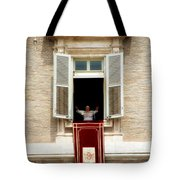 Pope Benedict Xvi A Tote Bag by Andrew Fare
