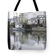 Port Of Nahcotta Tote Bag by Pamela Patch