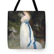 Portrait Of Lise   Tote Bag by Pierre Auguste Renoir