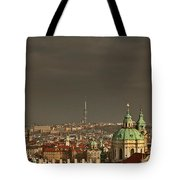 Prague - A Symphony In Stone Tote Bag by Christine Till