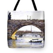 Prague Bridges Tote Bag by Yuriy  Shevchuk