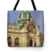 Prague Obecni dum - Municipal House Tote Bag by Christine Till