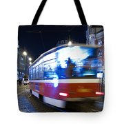Prague Tram Tote Bag by Stelios Kleanthous