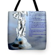 Prayer To St Christopher Tote Bag by Maria Urso