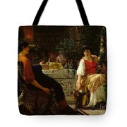 Preparations For The Festivities Tote Bag by Sir Lawrence Alma-Tadema