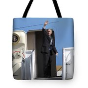 President George Bush Waves Good-bye Tote Bag by Stocktrek Images