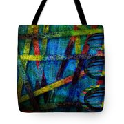 Primary Three Rectangle Tote Bag by Angelina Vick