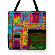 Psychadelic Architecture Tote Bag by Andrew Fare