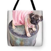 Pug Puppy Pink Sun Dress Tote Bag by Edward Fielding