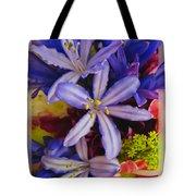 Purple Stars Tote Bag by Debbie Portwood