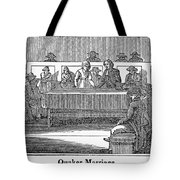 Quaker Marriage, 1842 Tote Bag by Granger